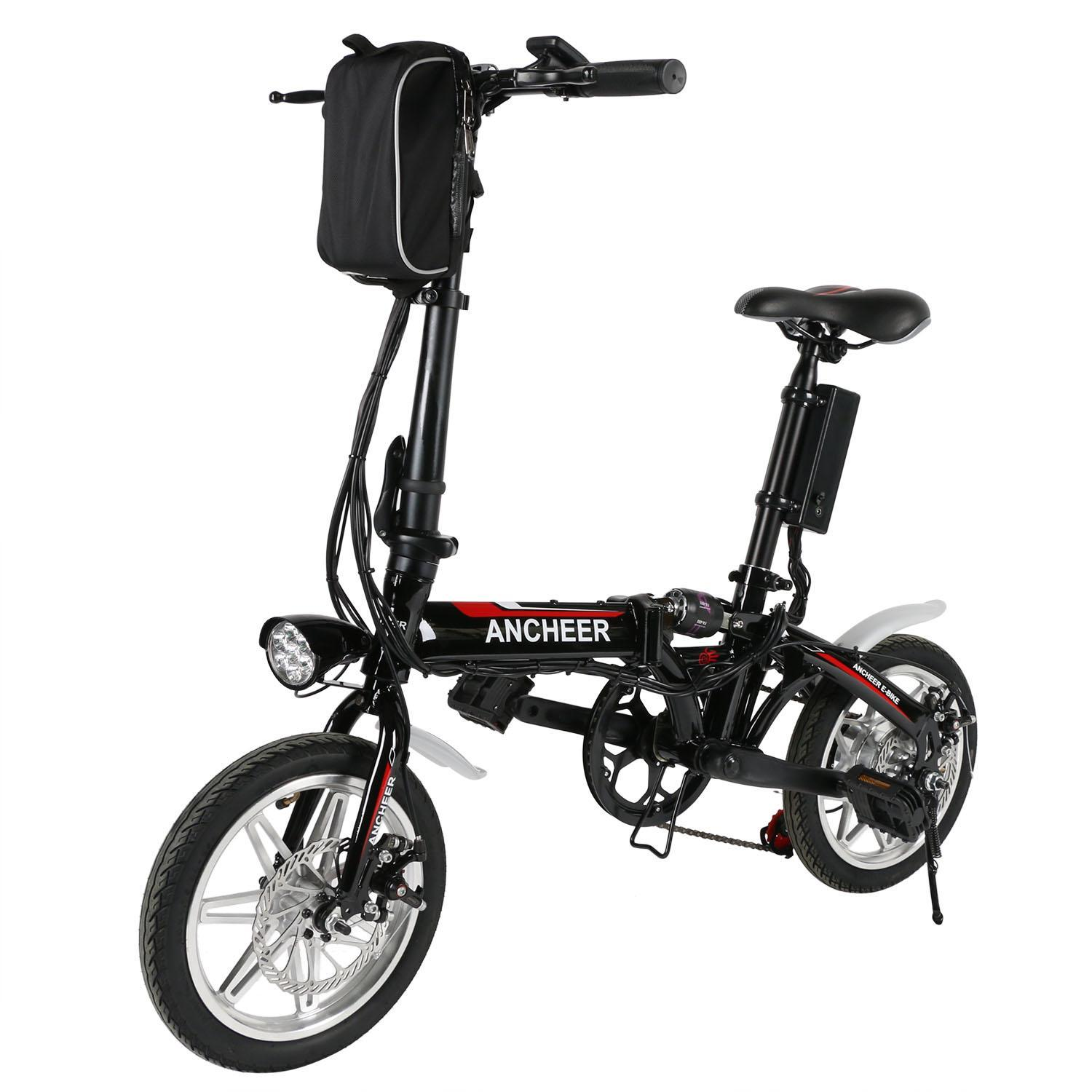 Ecobay 14'' Lithium-Ion Battery Foldable Electric Bicycle...