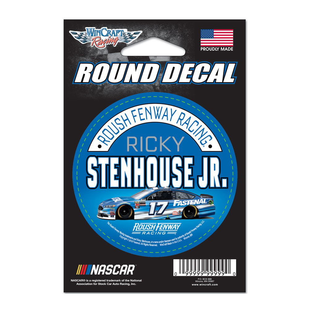"""Ricky Stenhouse Jr. WinCraft 2018 Driver 3"""" Round Decal - No Size"""