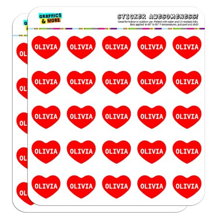 I Love Heart - Name - Olivia - 1