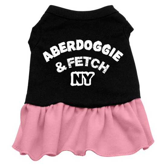 Aberdoggie NY Dresses Black with Pink Lg (14)