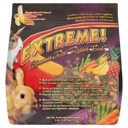 Brown's Extreme! Fresh Banana Scent Gourmet Pet Rabbit Food, 5