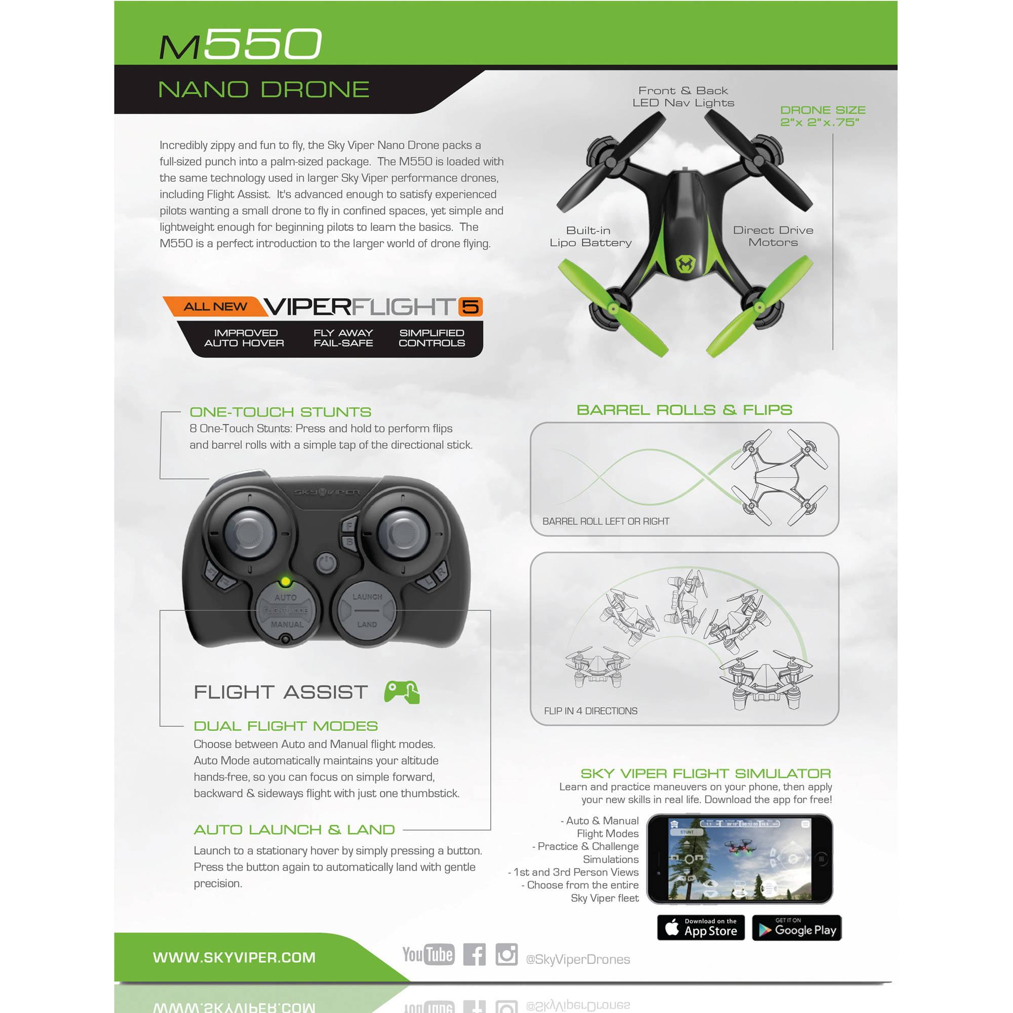 Sky Viper M550 Nano Drone Walmartcom