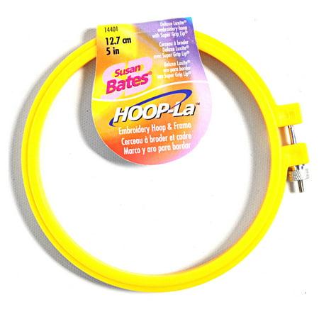 Susan Bates Hoop-La Embroidery Hoop 5 Inch (4 Inch Embroidery Hoop)