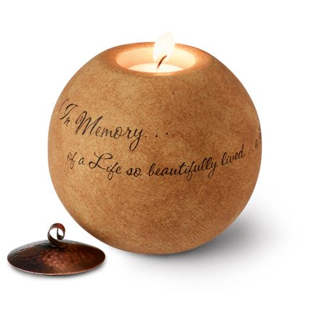 In Memory Of A Life Boxed Memorial Tea Light Holder - Comfort Candle Holder From Pavilion Gift Company