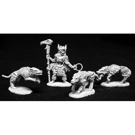 Reaper Miniatures Komray, Dogs Of War 02079 Dark Heaven Legends Unpainted (Rapper Dog)