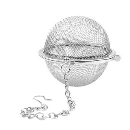 Luck Ball (Unique Bargains Metal Chain Locked Wire Mesh Tea Infuser Ball Strainer Spice Filter )