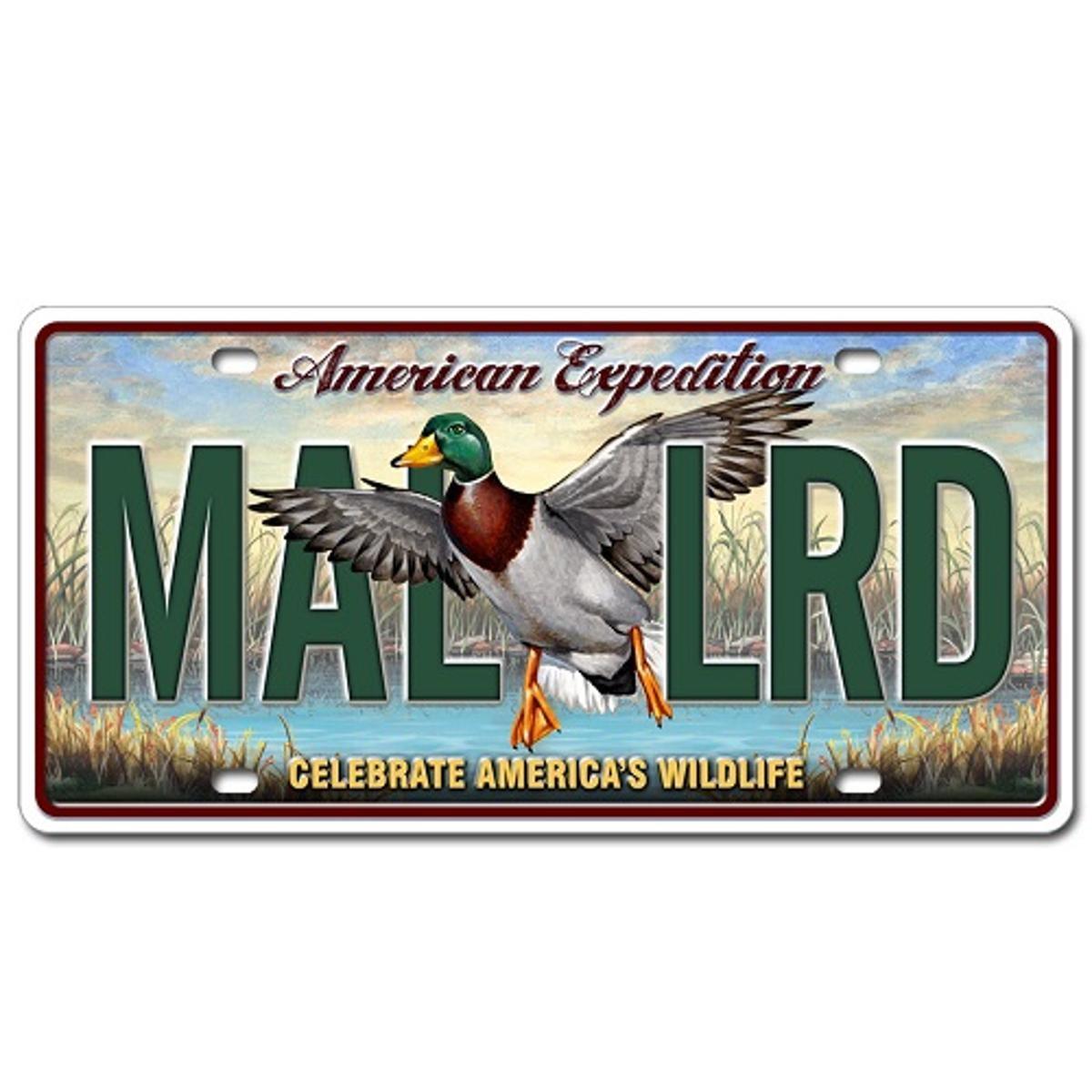 American Expedition Mallard License Plate