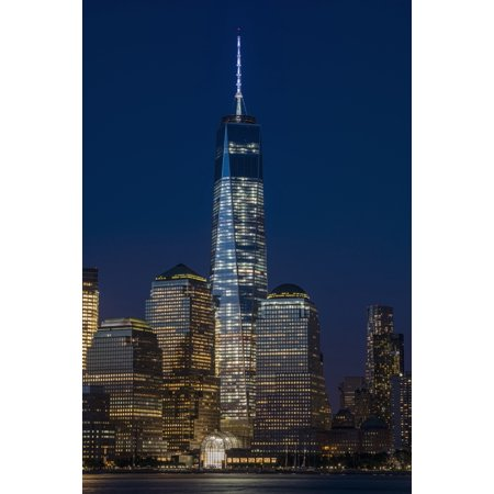 Posterazzi The new World Trade Center at twilight viewed from Jersey City New Jersey New York City New York United States of America Canvas Art - F M Kearney  Design Pics (24 x 38)