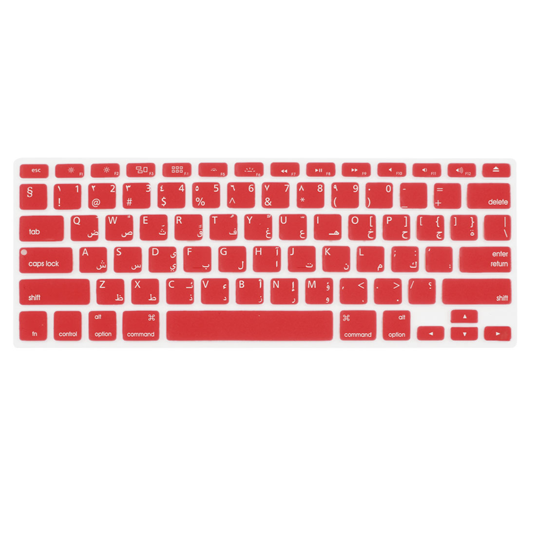 Unique Bargains Arabic English Red Silicone Keyboard Film Cover for Apple MacBook Air 13""