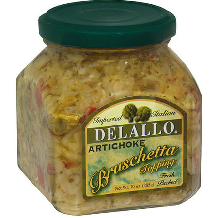 DeLallo Artichoke Bruschetta, 10 oz (Pack of 6) (Halloween Artichoke Dip)