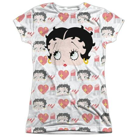 c42e9f14 GO TO SHOP; Betty Boop Symbol Sub (Front Back Print) Juniors Sublimation  Shirt
