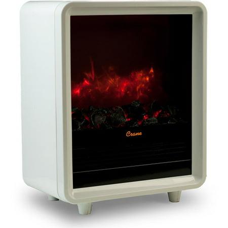 Crane Mini Fireplace Heater White Ee 8075 W