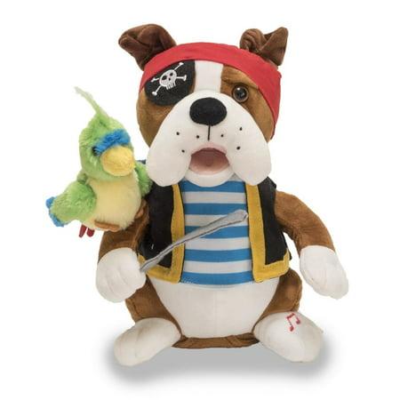 Pirate Pete Bulldog 12 inch Animated Plush - Stuffed Animal by Cuddle Barn (Pirate Stuff)