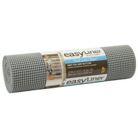 "Duck Brand Select Easy Shelf Liner, 12"" x 10', Grey"