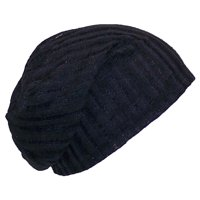 81aaf5f7dce48 Product Image David   Young Womens Solid Color Lightweight Rib Knit Beanie  (One Size) - Black