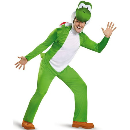 Super Mario Deluxe Yoshi Men's Adult Halloween Costume, XL](Yoshi Mascot Costume For Sale)
