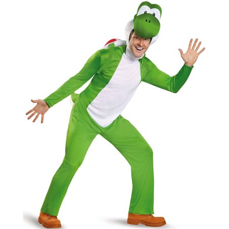 Super Mario Deluxe Yoshi Men's Adult Halloween Costume, XL - Halloween Costumes Mario