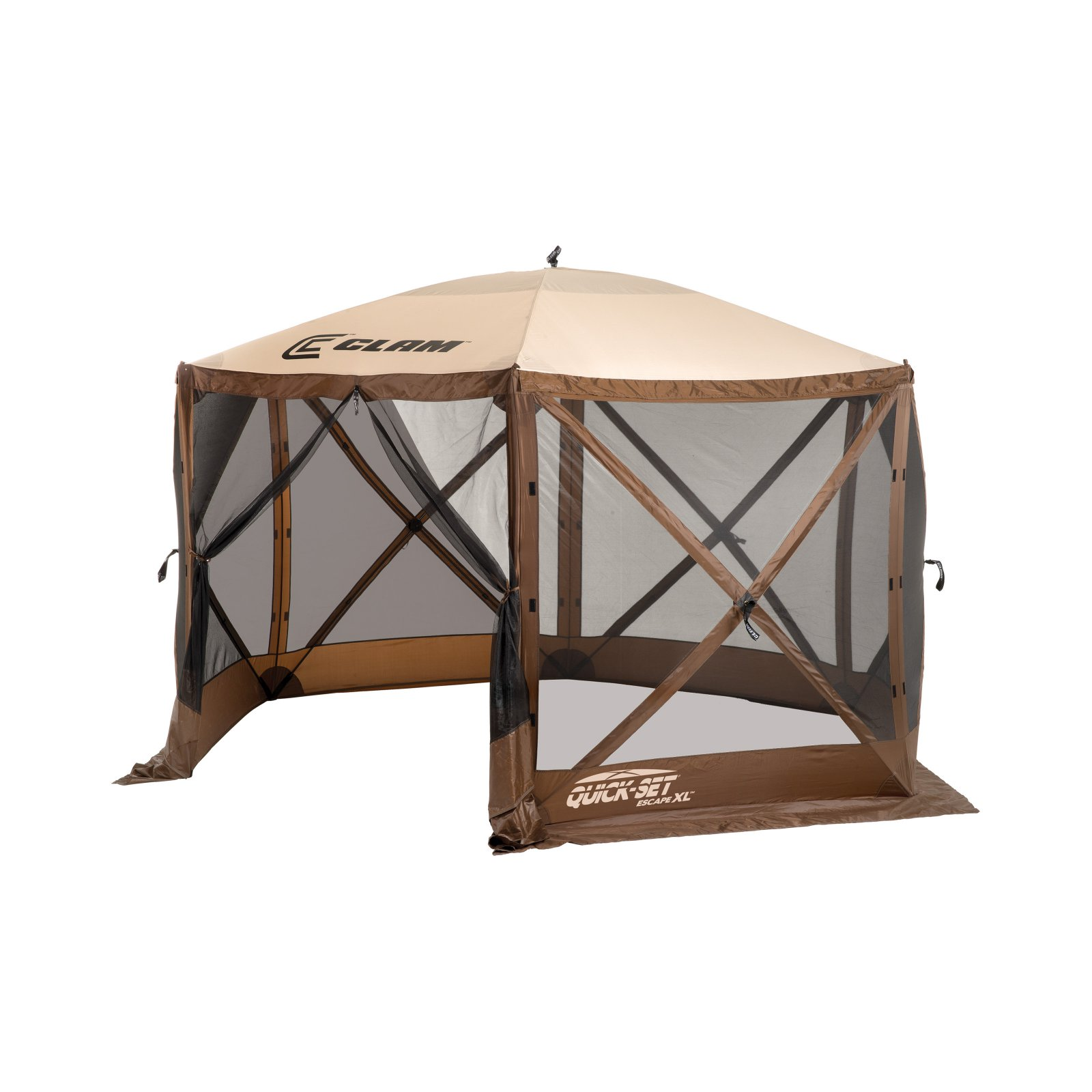 Clam Quick-Set Escape XL Canopy Shelter - Brown/Tan
