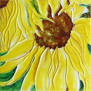 En Vogue B-310 Sunflower - Decorative Ceramic Art Tile - 8 in. x 8 in.