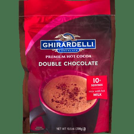 - Ghirardelli Double Chocolate Hot Cocoa Pouch, 10.5 oz