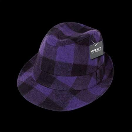 Decky 904-PUR-PUR-06 Fedora Hats, Purple - Small & Medium (Green Golf Hat)