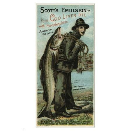 Scott'S Emulsion Vintage Ad Poster August Gast Us 1880 24X36