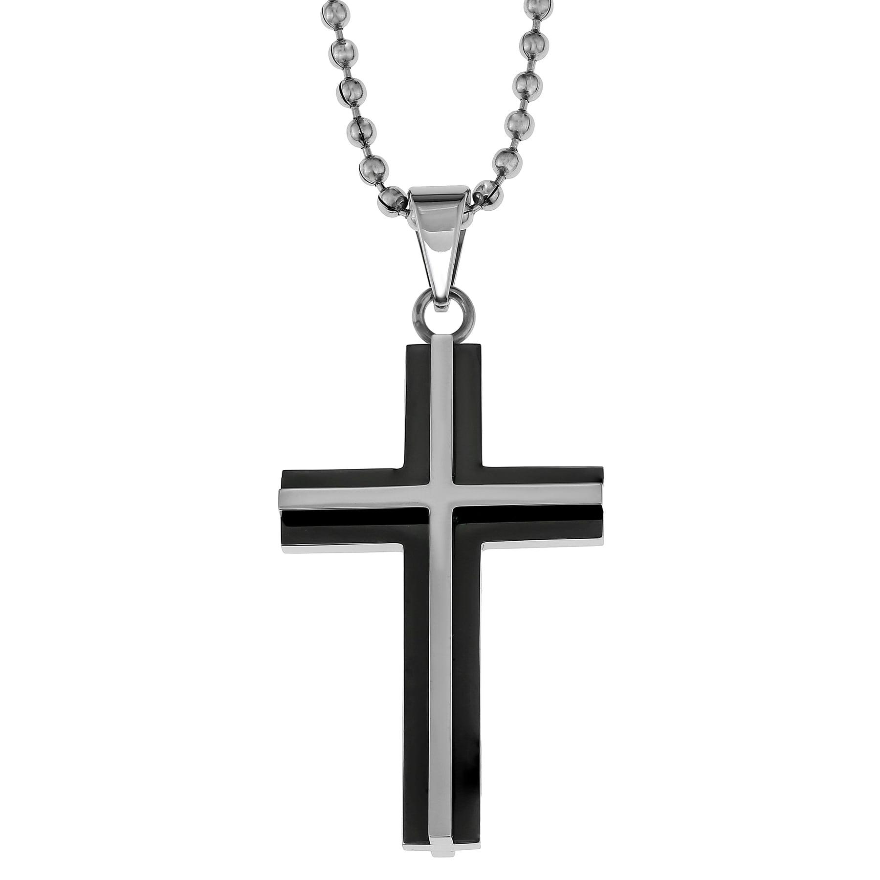 GOLDNROX Stainless Steel Cross Pendant