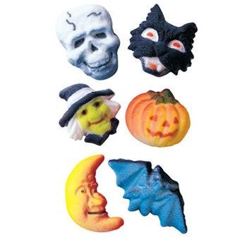 Deluxe Halloween Assortment Sugar Decorations Toppers Cupcake Cake Cookies 12 Count - Halloween Cookie Cakes