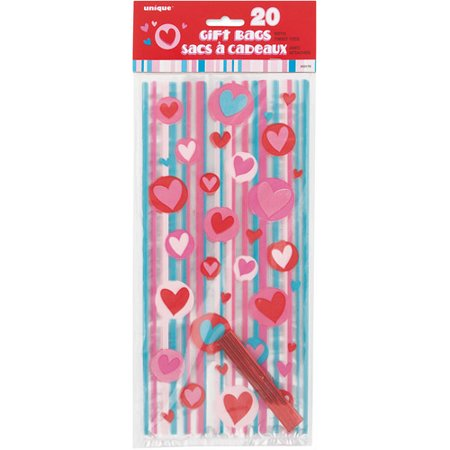 Simply Hearts Valentine Cello Bags, 20-Count](Valentine Treats)
