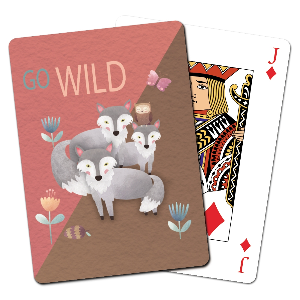 Tree-Free Greetings Wolves and Friends Playing Cards -CD15407
