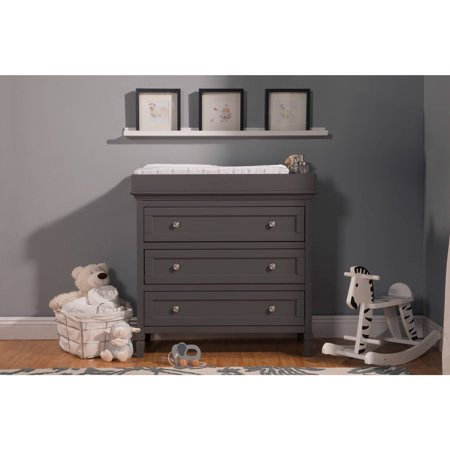 Perse 3-Drawer Changer w/Removable Changing Tray, Choose Your Finish