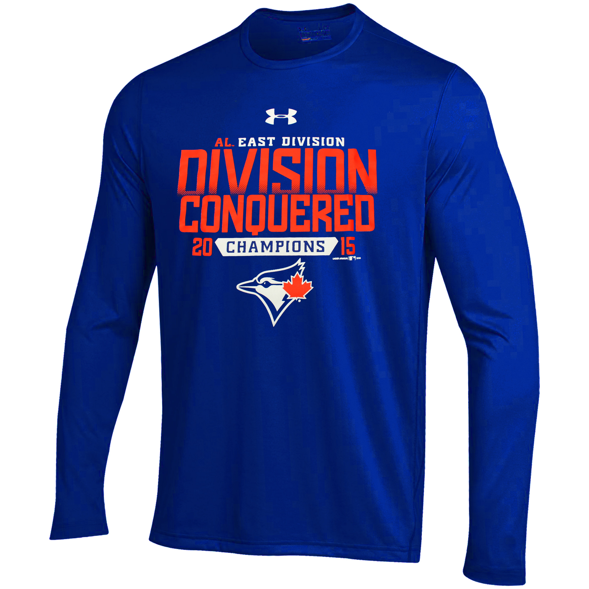 Toronto Blue Jays Under Armour Division Conquered Long Sleeve Performance T-Shirt - Royal