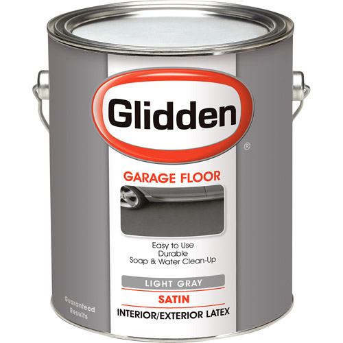 Glidden Garage Floor Paint, Grab-N-Go, Eggshell Finish, Light Grey, 1 Gallon