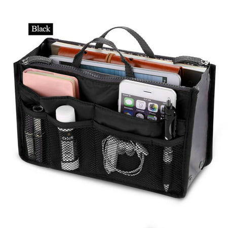 Black Friday Clearance! Women Pocket Large Travel Insert Handbag Tote Organizer Tidy Bag Purse Pouch - Sheepskin Womens Shoulder Bag