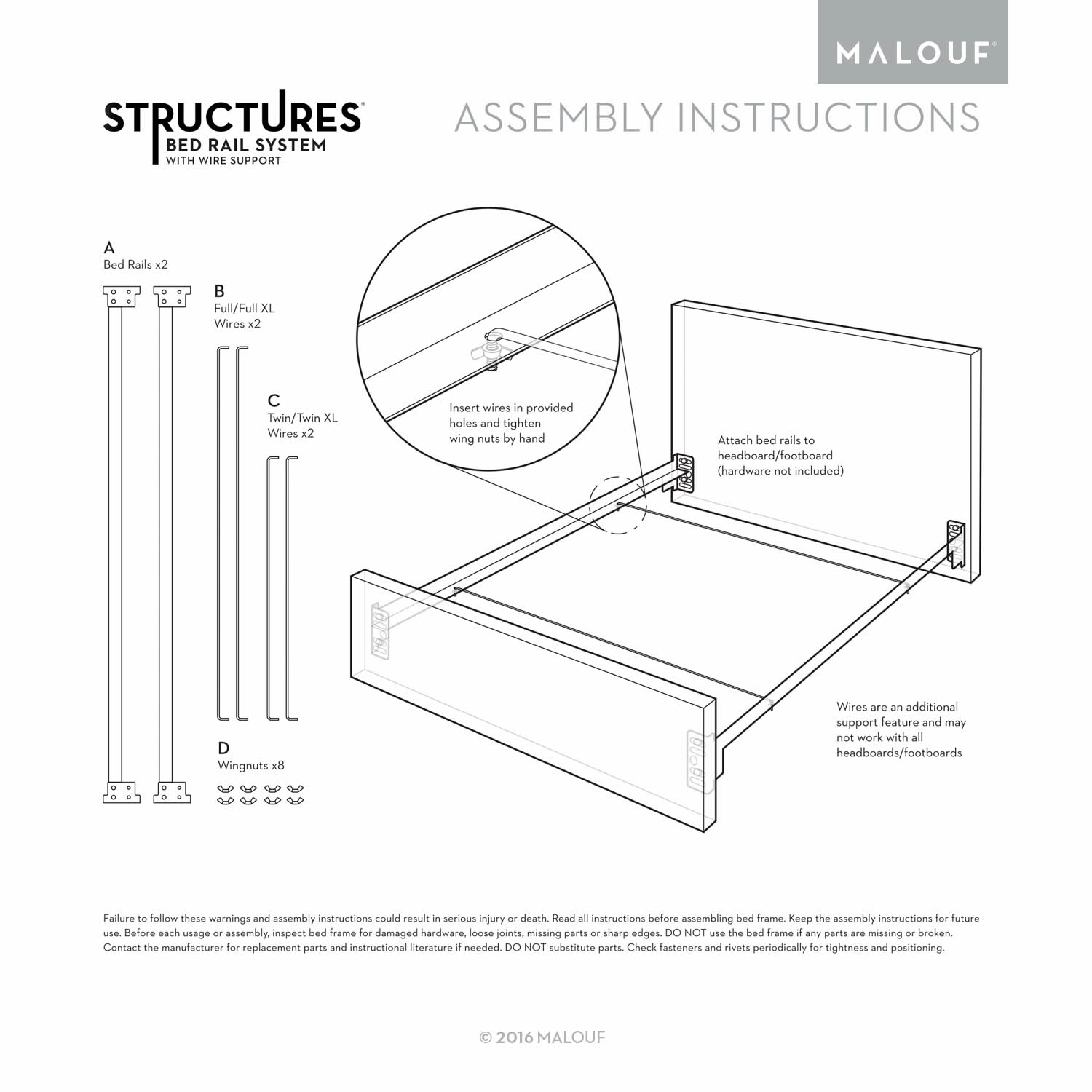 Structures Bolt On Bed Rails With Wire Support System X8 Wiring Diagram