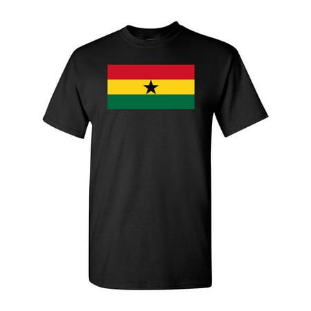 Ghana Country Flag Adult DT T-Shirt Tee