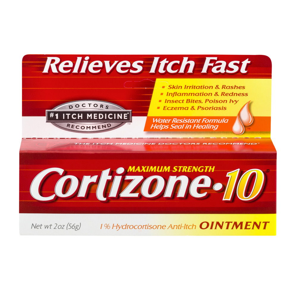 Cortizone 10 Maximum Strength 1% Hydrocortisone Anti-Itch Ointment, 2oz