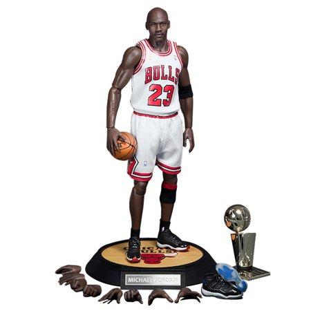best service e1db1 6b89a NBA Michael Jordan Home White Jersey 1/6 Figure with Air ...