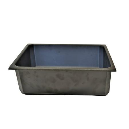"Black Plastic Storage Tub, 4.5"""