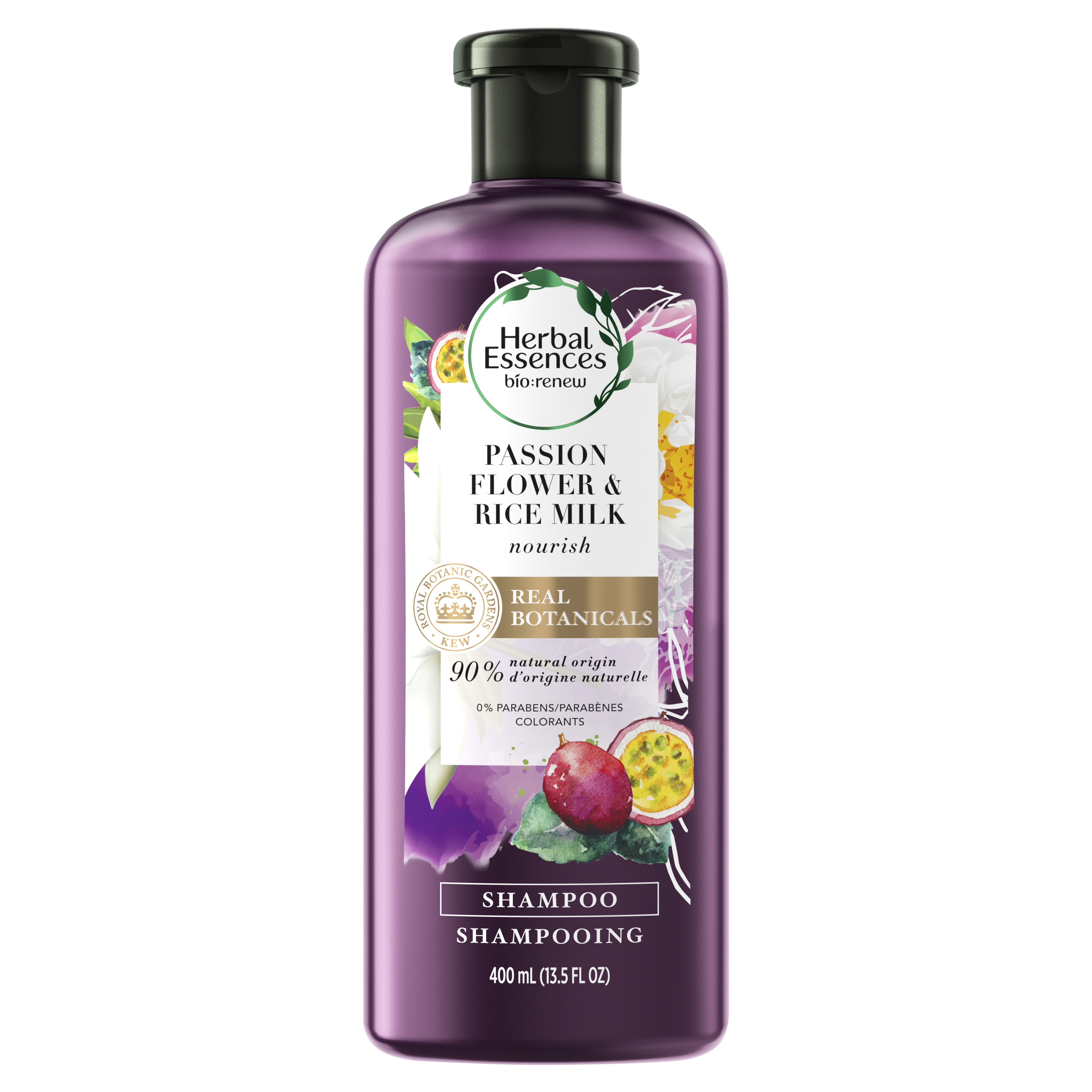 Herbal Essences bio:renew Passion Flower & Rice Milk Nourishing Shampoo, 13.5 fl oz