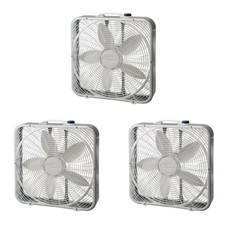 "Lasko 20"" 3 Speed Settings and Easy Carry Handle Preimum Steel Box Fan (3 Pack) - image 6 of 6"