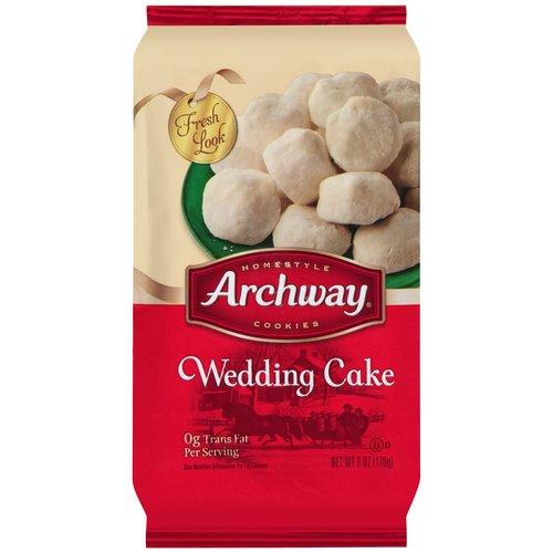 archway original wedding cake cookies archway wedding cake cookies 6 oz walmart 10812