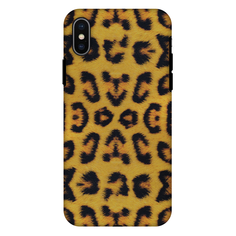 iPhone X Case, Premium Heavy Duty Dual Layer Handcrafted Designer Case ShockProof Protective Cover with Screen Cleaning Kit for iPhone X - Wild Leopard, Flexible TPU, Hard Shell