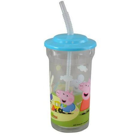 Peppa Pig 16 oz Sports Tumbler w lid and straw 55g