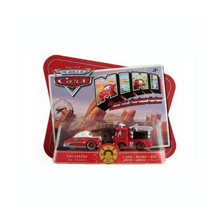 Doc Hudson Accessories - Disney Pixar Cars Mini Adventures Fire Dept 2 Pack Doc Hudson & Red