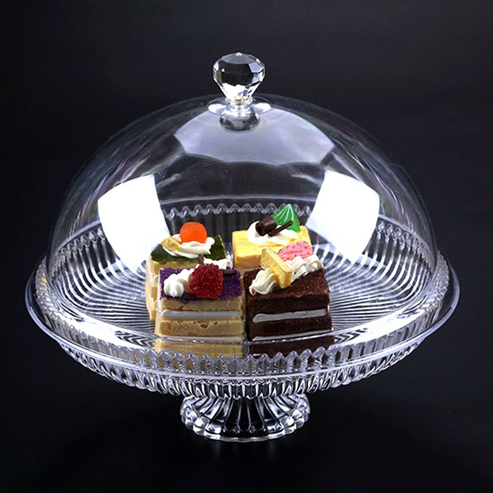 Round Clear Acrylic Cake Stand Tiered Cake StandDessert F...