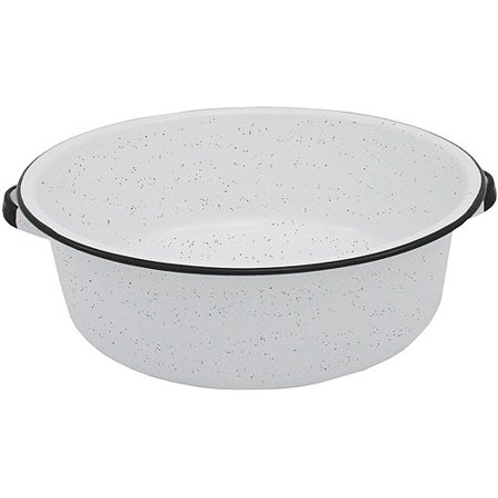- Granite Ware Dish Pan with Handles, White, 15-Qt