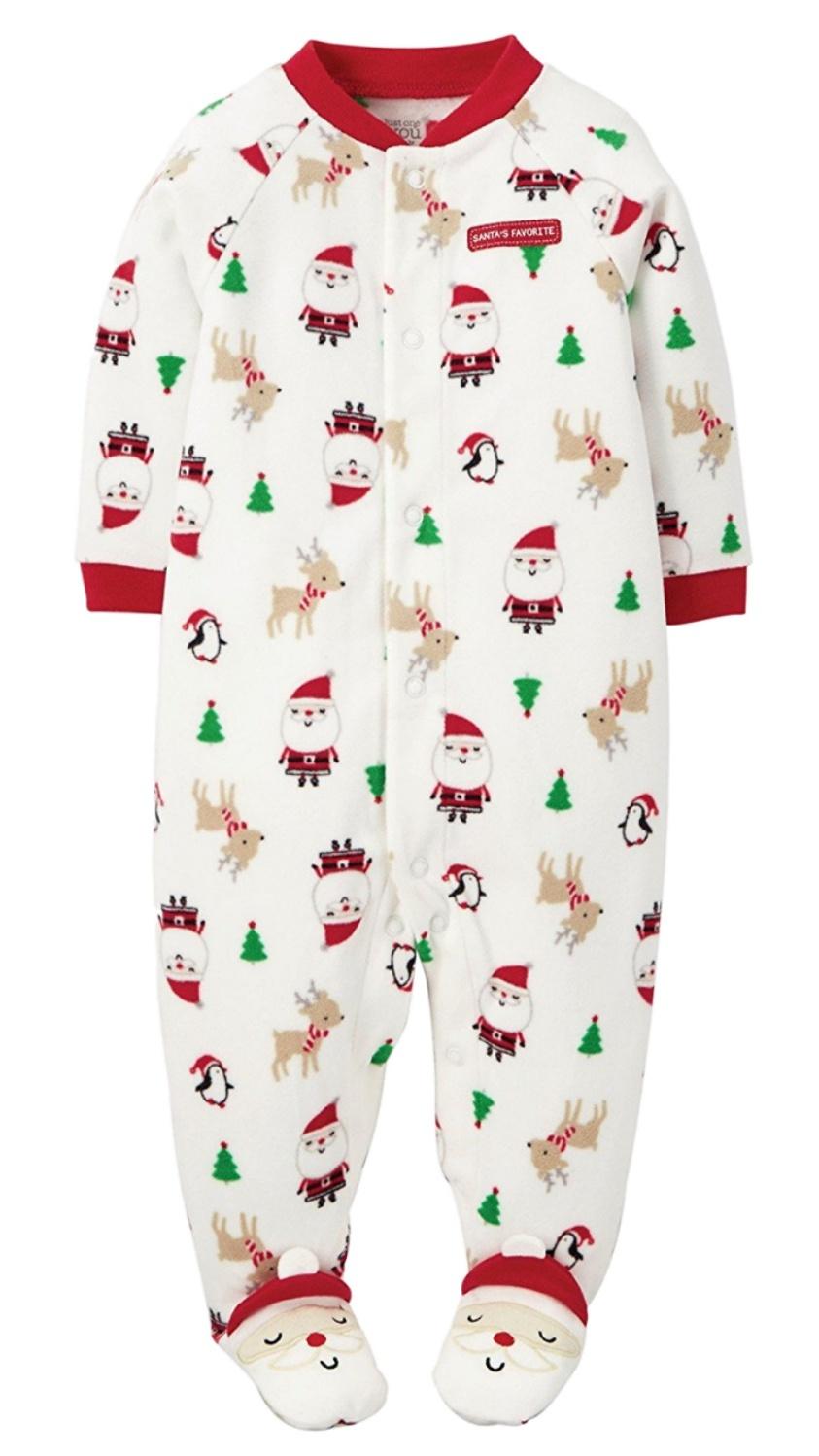 Carter\'s - Carters Infant Boy White Fleece Santas Favorite Christmas ...