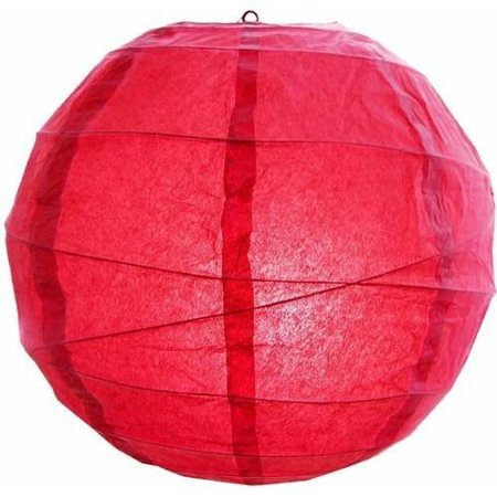 Set of 5 Decorative Bright Red Criss Cross Paper Lanterns 12