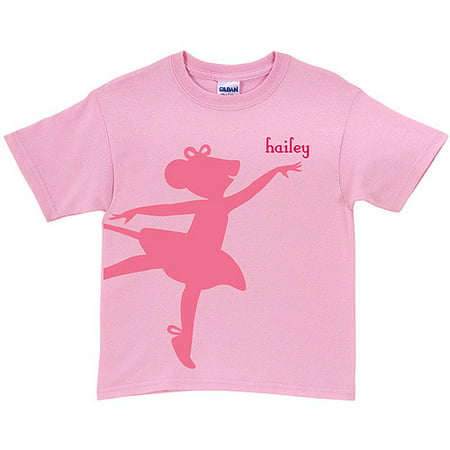 Personalized Angelina Ballerina Center Stage Youth Pink T-Shirt